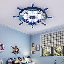 Мультяшный детский потолочный светильник в виде руля и облака для детской комнаты для девочек и мальчиков, светильник в спальню, светодиодный светильник
