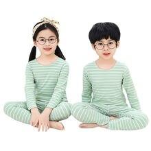 Детские пижамы; Осенняя одежда для сна мальчиков и девочек;
