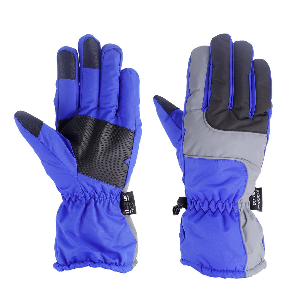 OUTAD Winter Outdoor Soft Elastic Breathable Windproof & Waterproof Snow Ski Gloves Warm Mountain Climbing Gloves For Men