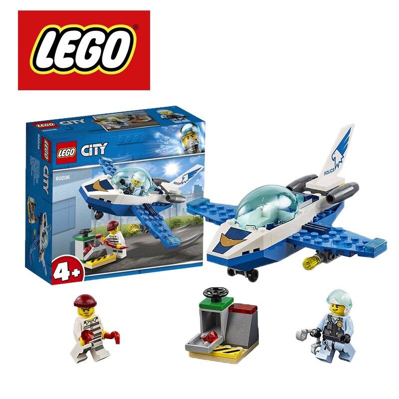 2019 LEGO City Sky Police Jet Patrol 60206 Building Kit (54piece/set) Building Blocks Lego Ninjago Duplo Marvel DIY Educational