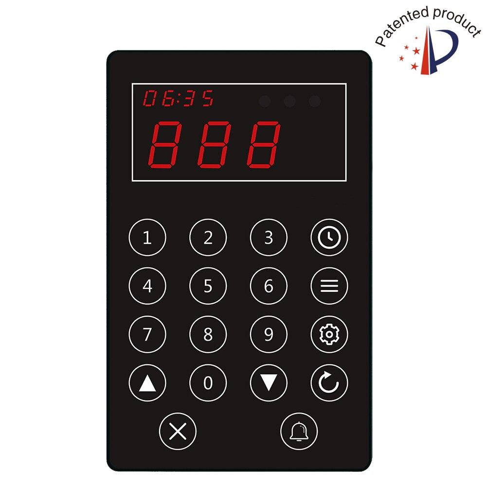 Téléavertisseur d'appel de cuisine sans fil chef d'appel serveur pour ramasser le système alimentaire 1pc bouton d'appel de file d'attente 1pc téléavertisseur de montre-bracelet - 2