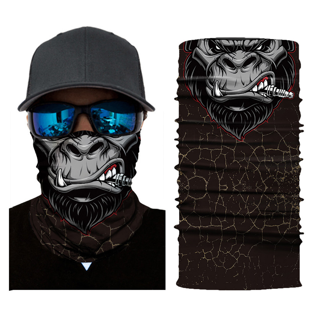 Scarf And More-For Men and Women MULTIFUNCTIONAL HEADWEAR 3PC VARIOUS DESIGNS-Absorbs Sweat Bandana UV Protection 12-In-1 Headband For Outdoor Sports -Wear as a Neck Gaiter Ski Mask