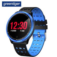 Greentiger P71 Smartwatch Uomini Donne IP68 Impermeabile Heart Rate Monitor di Pressione Sanguigna di Sport Sonno Tracker Intelligente Orologio VS L5 S226(China)