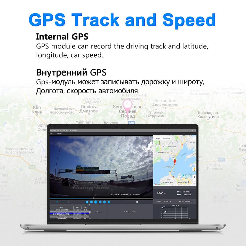 Carro dvr 4 k 2160 p gps wifi adas traço cam lente dupla 1080 p + 1080 p veículo câmera do carro gravador de condução - 6