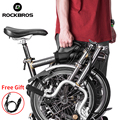 Складная велосипедная Рама ROCKBROS, плечевой ремень для переноски велосипеда, ручные Грипсы для Бромптона, Аксессуары для велосипеда