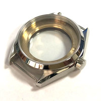 watch parts 2019 corgeut 41mm Sliver Stainless Steel Watch Case fit ETA 2836 mingzhu/DG 2813/3804 miyota 8205/8215/821A Movement