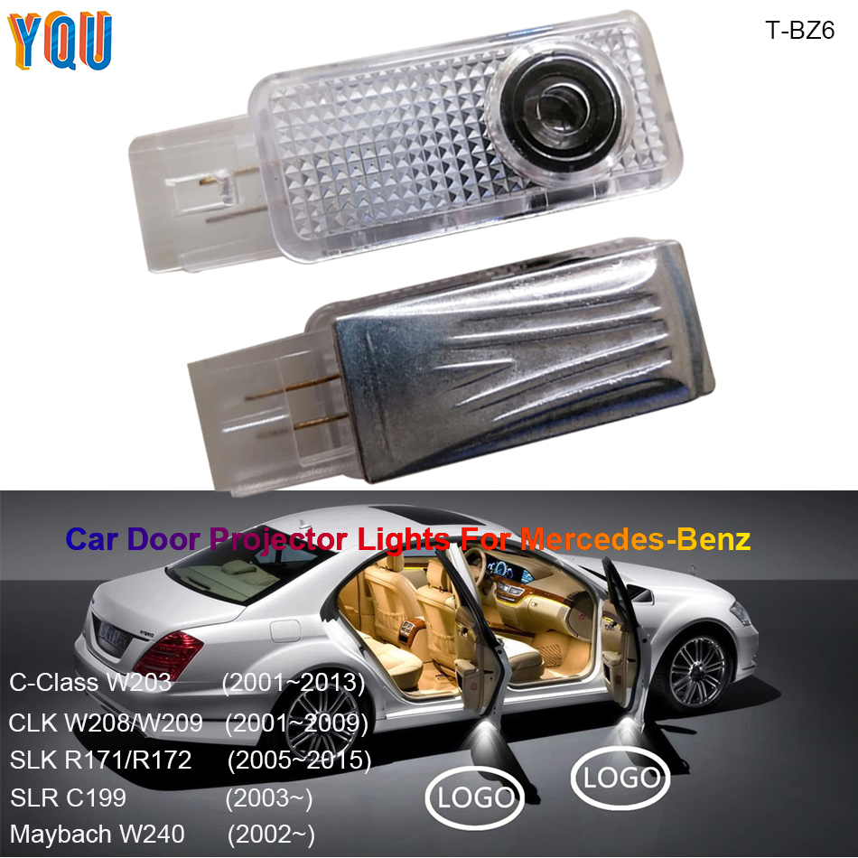 W203 SLK R171 Car Door Welcome Light CLK W208 W209 Projetor Luces LED Para Auto Interior Coche Projector For Mercedes Benz AMG