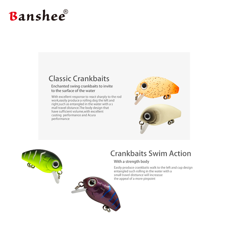 Banshee  Mini Crankbaits  sinking Wobbler 5