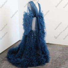 Women Bathrobe Sexy Long Sleeve Wedding Scarf Illusion Nightgown Robe Perspective Sheer Bathrobe Sleepwear