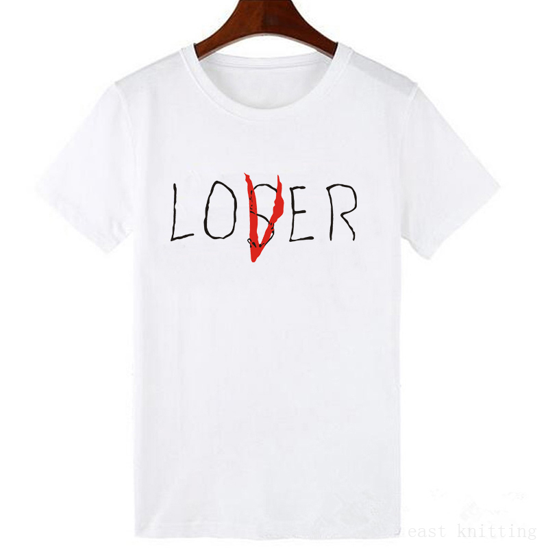 Women Casual Cotton Short Sleeve Loser Lover It Inspired T-Shirt Tops New Movie It Losers Club T Shirt