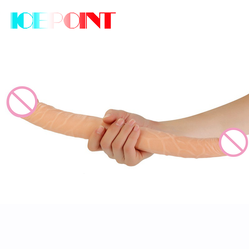 Double Dildo 14.6 inch Long Dildo Realistic Penis For lesbian Females Flirting Masturbation Stimulate Vaginal Sex Toys For Women
