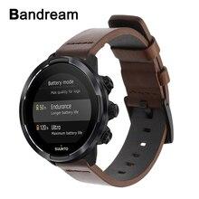 אמיתי עגל עור רצועת השעון עבור Suunto 9/לתחומה 3 אנכי/Spartan ספורט יד HR מהיר שחרור רצועת שעון להקת צמיד