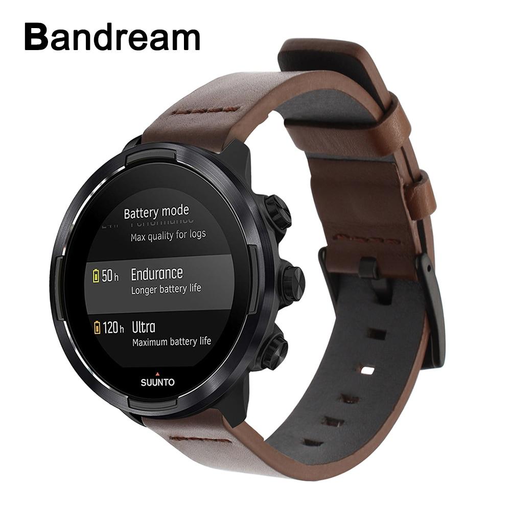 Ремешок из натуральной телячьей кожи для часов Suunto 9/Ambit 3 Vertical/Spartan Sport Wrist HR Quick Release