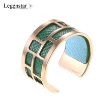 Legenstar Bijoux Bagues Pour Femme Rose Gold Stainless Steel Rings For Women and Men Interchangeable Leather Ring Anillos Mujer
