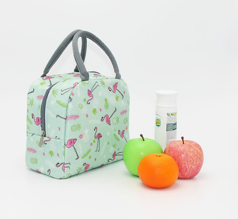 Functional Cooler Cute Flame Bird Pattern Thermal Insulated Container Waterproof Lunch Box Portable Food Picnic Storage Bag