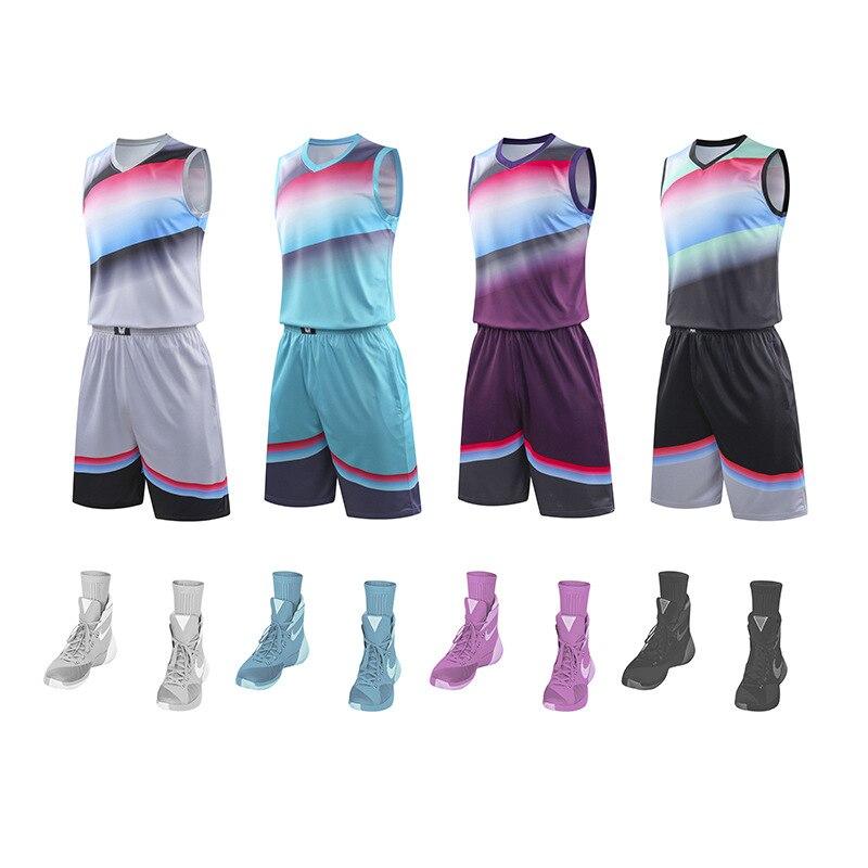 Personalizado em branco basquete treinamento terno cor