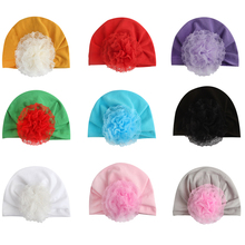 Hot Hollow Flower Baby Cap Girl Cotton Soft Baby Turban Headband Handmade Elastic Baby Head Wrap Newborn Infant Hair Accessories baby headband ribbon flower handmade diy toddler kid hair accessories floral girl newborn bows photography turban elastic infant