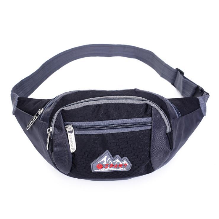 BB350  Womens Waist Bag Fanny Pack PU Bag Belt Purse Small Purse Phone Key Pouch White Black Waist Packs