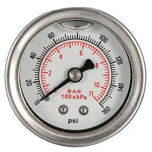 Image 5 - Universal Adjustable Fuel Pressure Regulator Oil 160psi Gauge AN 6 Fitting End Oil Gauge Hose Fitting Kit