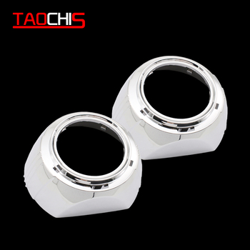 TAOCHIS 3.0 inches Big S-MAX shroud angel eyes LED fit for car headlights HELLA 3R BI-xenon BI-led projector lens image