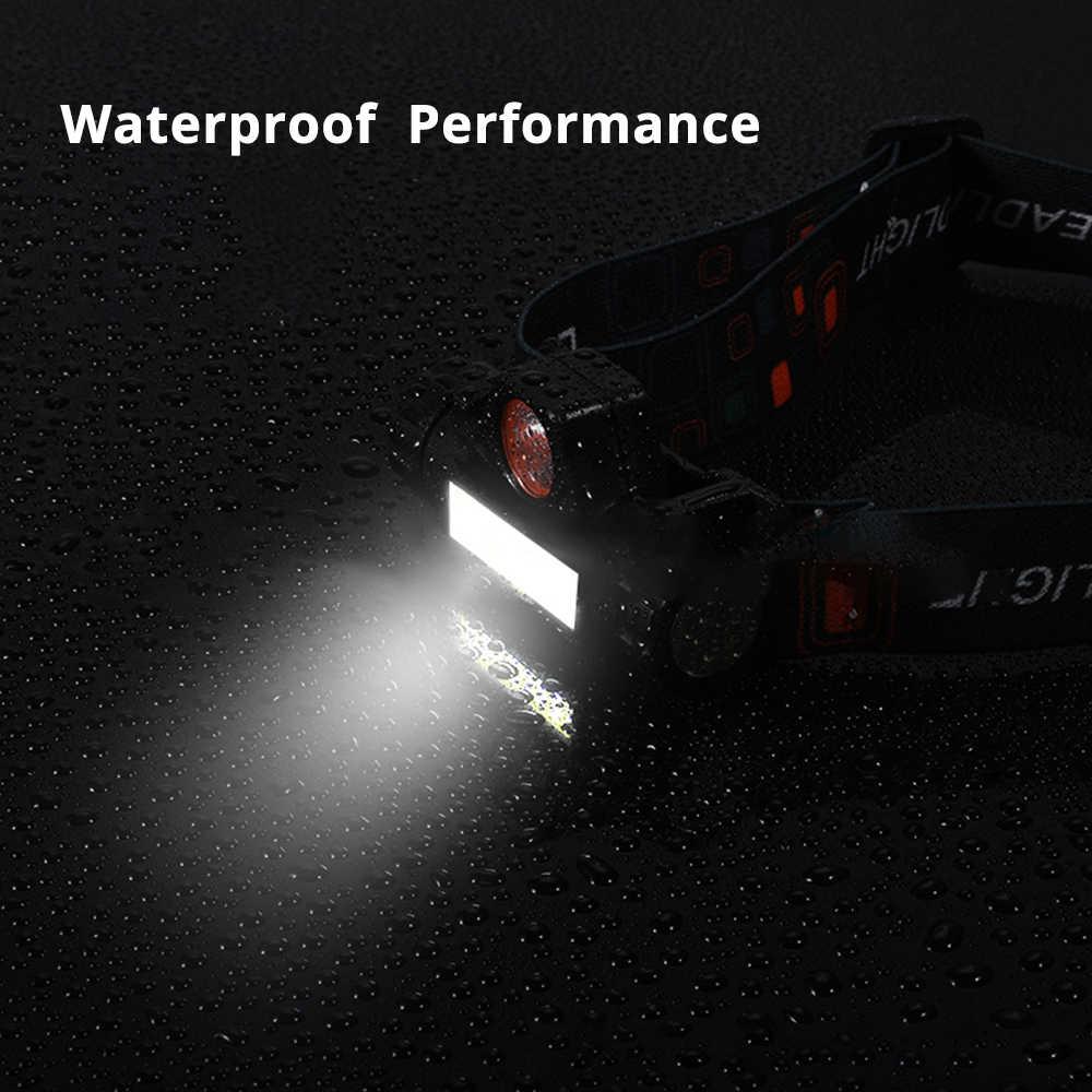 Wasserdicht LED scheinwerfer COB arbeit licht 2 licht modus mit magnet scheinwerfer gebaut-in 18650 batterie anzug für angeln, camping, etc.
