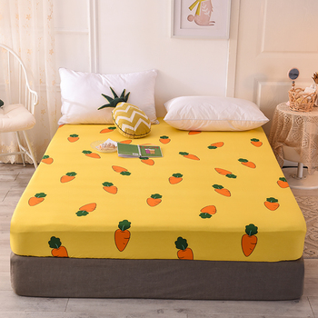 Bedspread Mattress Cover Dustproof Protect Solid And Durable Fitted Sheet Bedding Singleton Antislip Pure Cotton Fixed image