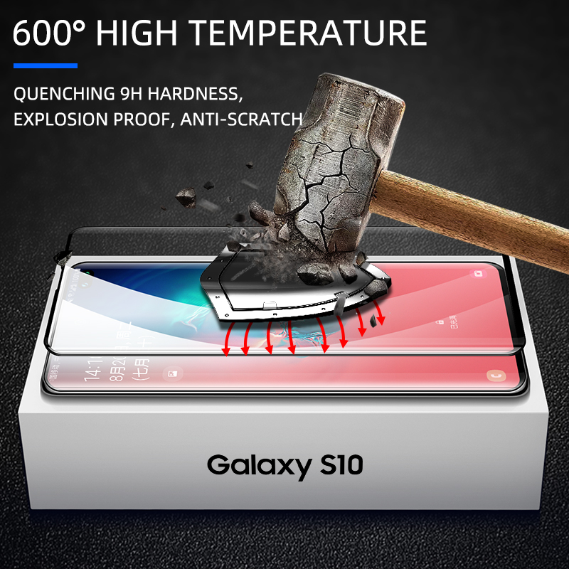 Image 4 - iHaitun 6D Glass For Samsung Galaxy S10 S10e S9 S8 Plus Full Curved Screen Protector For Samsung Note 10 Plus 9 8 Tempered Glass-in Phone Screen Protectors from Cellphones & Telecommunications