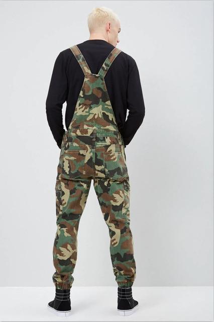Men Ripped Denim Jumpsuit Overalls Jean Casual Suspenders Pants Men Fashion Hip Hop Jumpsuit Jean Bib Pant Streetwear 5