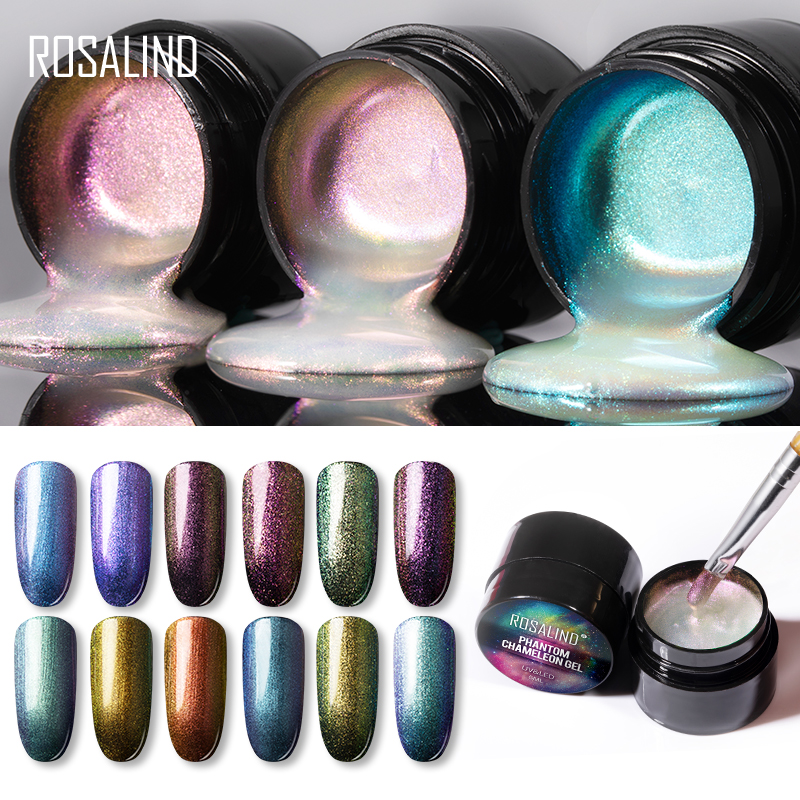ROSALIND Phantom Chameleon Gel Nail Polish  Hybrid Varnishes Set Manicure Decoration Base Top For Nails UV LED Lamp Art Lacquer