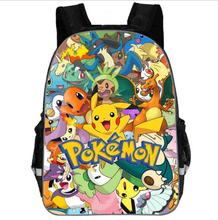 цена на Anime Pokemon Backpack Pocket Monster School Bag Ash Ketchum/Pikachu School Backpacks Girls Boys Toddler Bag Kids Book Bags