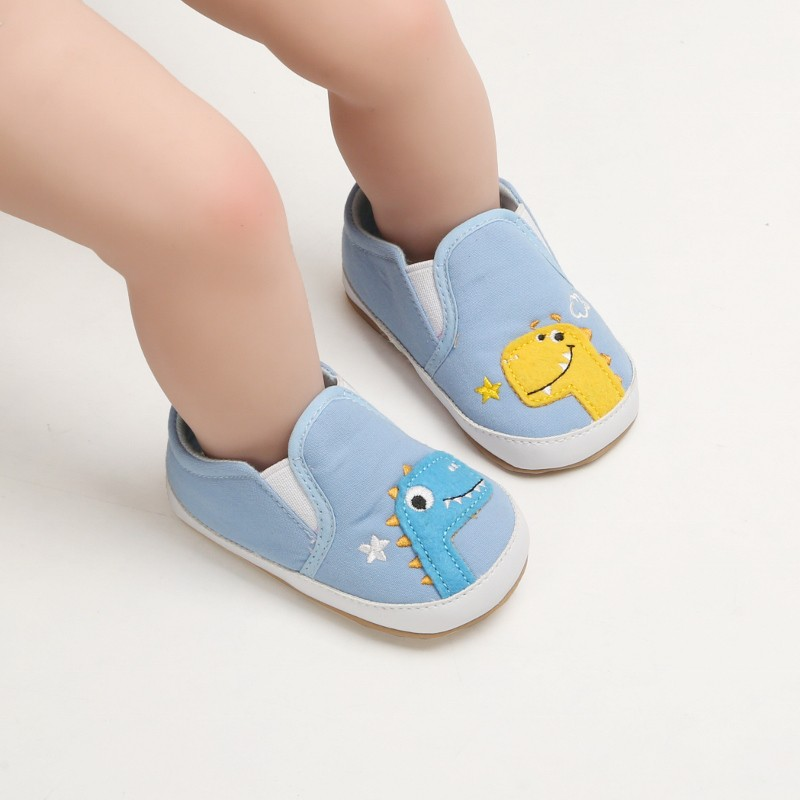 Canvas Baby Shoes Cartoon Dinosaur Newborn Baby Boys Girls First Walkers Shoes Infant Toddler Soft Sole Crib Shoes