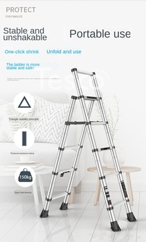 new 10m folding soft ladder fire rescue equipment escape ladder life saving ladder aluminum alloy wire rope ladder for climbing Telescopic ladder herringbone ladder aluminum alloy thickening engineering folding ladder