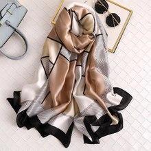 Роскошный брендовый женский шарф, летние шелковые шарфы, шали, женские накидки, мягкая пашимина, женская дизайнерская накидка для пляжа, бандана