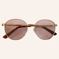 Brand Round Sunglasses Women 2020 Metal Frame Fashion Luxury Brand Sun Glasses Female UV400