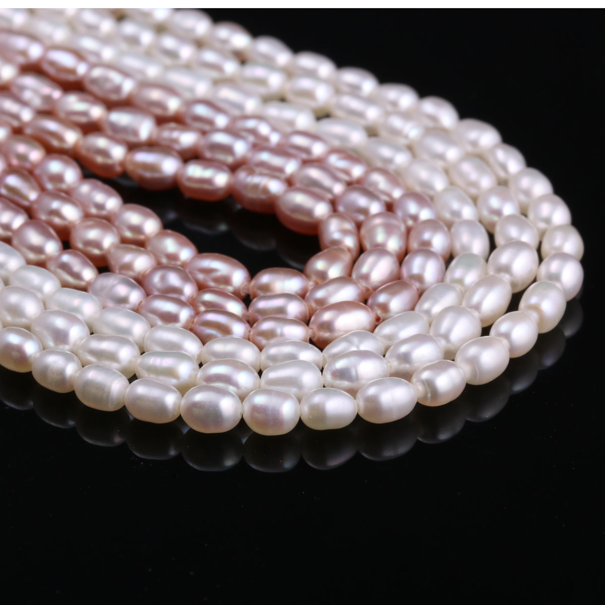 2 5 3mm White Rice Shape Natural Freshwater Pearls Beads Punch Loose Beads for DIY Women Elegant Necklace Bracelet Jewelry 13 quot in Beads from Jewelry amp Accessories