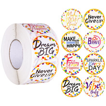 500 Pcs Reward Stickers Roll Cute Motivational Confetti Sayings Removable Stickers Label for Classroom Bulletin Board Decoration