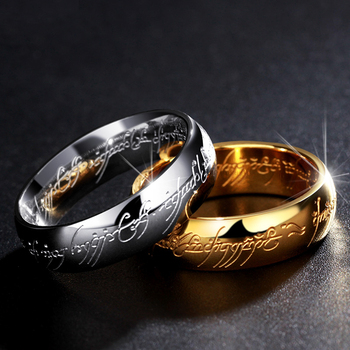 Midi Stainless Steel One Ring of Power Gold the Movie Rings Lovers For Women Men Fashion Jewelry Drop Shipping