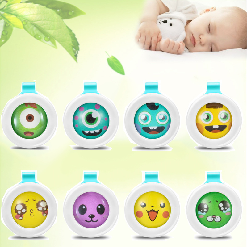10 Pcs Random Color Mosquito Repellent Button Safe For Infants  For Baby Child Pregnant Mosquitoes Killer Pest Control Wholesale