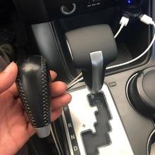 Brand Car Automatic Gearbox Handles Gear Shift Knob Lever Stick Head for KIA Sorento Borrego K2 Freddy Ba Rui  Genuine Leather