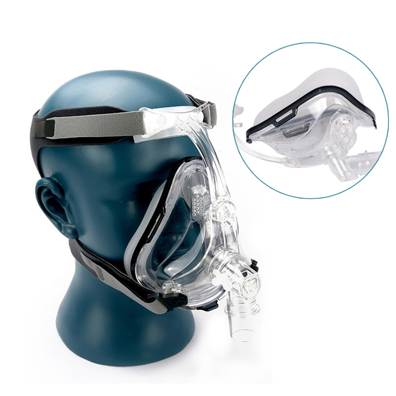 Full Face CPAP Mask Auto with Adjustable Headgear Strap Clip for Sleep Apnea Patient 3