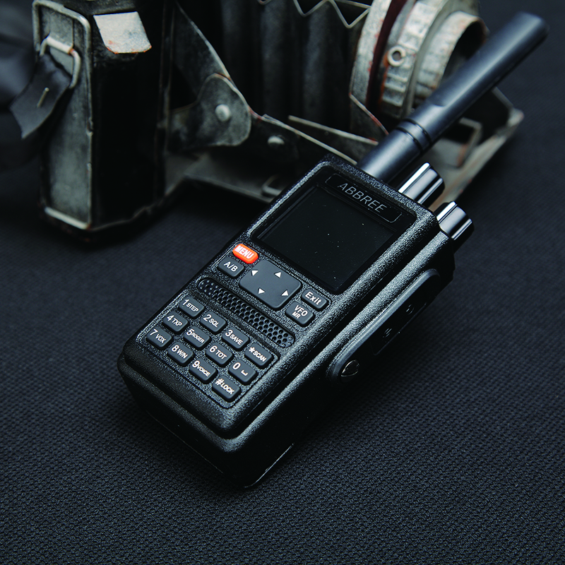 ABBREE AR-F8 GPS high power All Bands(136-520MHz) Frequency/CTCSS Detection 1.77 LCD 999CH Walkie Talkie 10km long range