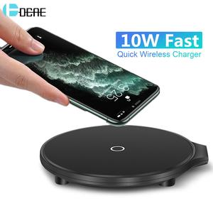DCAE QI 10W Wireless Charger QC 3.0 Fast Charging for Apple Airpods Pro iPhone 11 XS XR X 8 Quick Charge Pad For Samsung S10 S9
