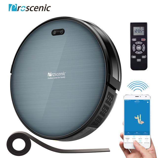 Proscenic Robot Vacuum Cleaner 820T, Wi Fi and Alexa Connected, 3 in 1Robotic vacuum Cleaner, Powerful 2000PA Carpet and Floor