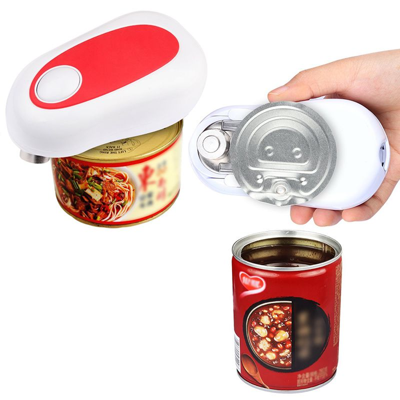 Electric One-Button Can Opener Automatic Innovative Jar Opener Without Battery Hands Free Operation Kitchen Tools