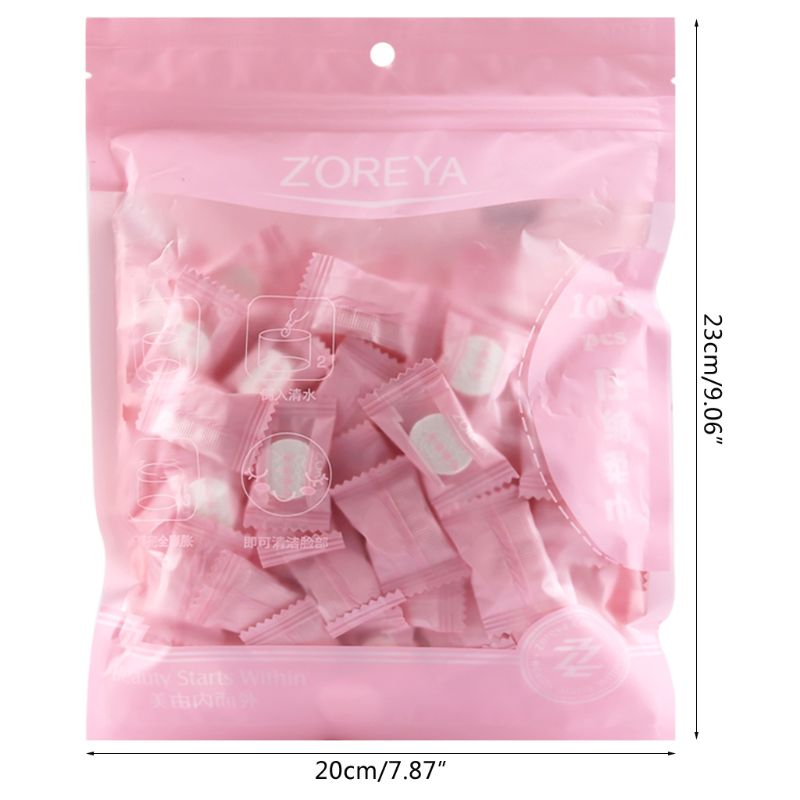 2020 New 100 Pcs Portable Travel Cotton Compressed Towel Expandable Face Care Healthy Magic Towel For Outdoor Sports