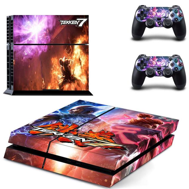 Game Tekken 7 PS4 Stickers Play station 4 Skin Sticker Decals For PlayStation 4 PS4 Console and Controller Skins Vinyl