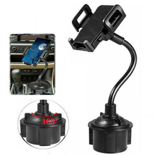 цена на Car Phone Mount Universal Adjustable Gooseneck Cup Holder Cradle For Iphone Cell Phone Black Smartphpne Auto Support Phone Stand