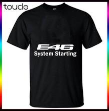 Desconto nova moda verão masculino curto m3 e46 sistema olhando engraçado preto camiseta fabricante design seu desejado presente de aniversário