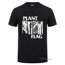 Hot sale Printing Plant Flag men T-shirt Summer O-Neck Short Sleeve shirt 2019 fashion Custom 100%Cotton Valentine Day gift(China)