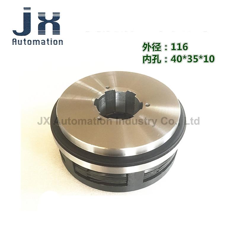 DLM0-6.3 DLM0-6.3AZ Wet Multi-disc Electromagnetic Clutch DC24V Lathe Accessories Coil Outer Diameter 116mm Holes 40*35*10mm